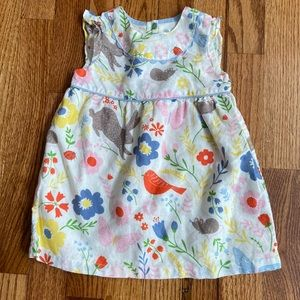 Baby Boden Baby Girl 6-12 Month Floral Bunny Dress